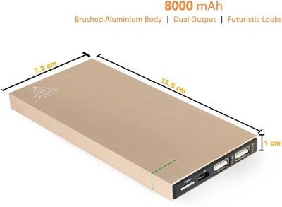 Parallel Universe 8000 mAh Power Bank Gold, Lithium Polymer
