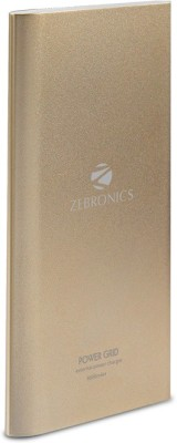 Zebronics PG 8000 Lithium Polymer Power Bank, 8000 mAh (Gold)