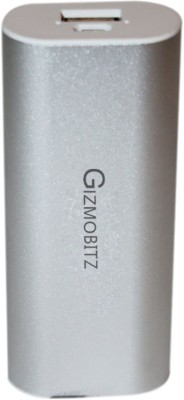 Gizmobitz 5200 mAh Power Bank  PBLPG5200SL, Universal Power Pack  Silver, Lithium ion