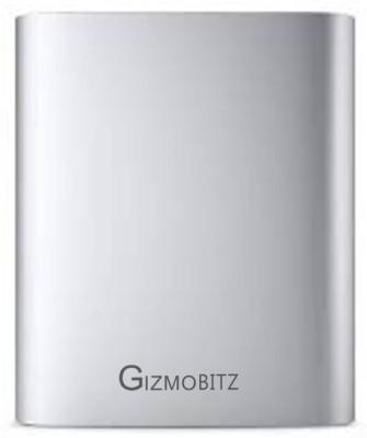 Gizmobitz 10400 mAh Power Bank Silver, Lithium ion