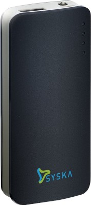 Syska 5200 mAh Power Bank (Power Elite)(Black, Lithium-ion)
