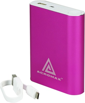 Acromax Am-104 super charger 10400 mAh Power Bank(Pink, Lithium-ion) at flipkart