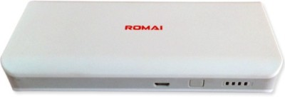Romai T1 Romai DUAL USB Portable Power Supply 10000 mAh 10000 mAh Power Bank(White, Lithium-ion) at flipkart