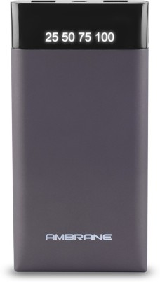 Ambrane Plush PP-10 10000 mAh Power Bank(Grey, Lithium Polymer) at flipkart