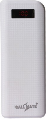 Callmate 20000 mAh Power Bank (Long, LCD)(White, Lithium-ion) at flipkart
