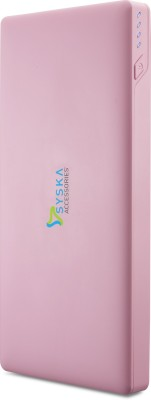 Syska 10000 mAh Power Bank (Power, Slice 100-)(Pink, Lithium Polymer)
