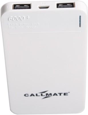 Callmate 6000 mAh Power Bank White, Lithium Polymer Callmate Power Banks