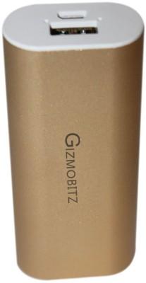 GIZMOBITZ 5200 mAh Power Bank Gold, Lithium ion GIZMOBITZ Power Banks