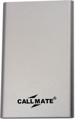 Callmate 4000 mAh Power Bank (Power ban, Pumi)(Silver, Lithium Polymer) at flipkart