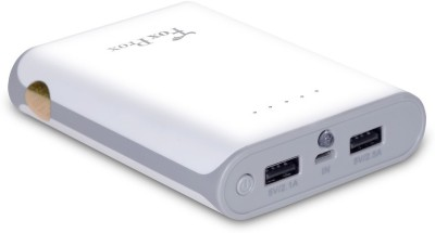 FoxProx 8000 mAh Power Bank White, Lithium ion FoxProx Power Banks
