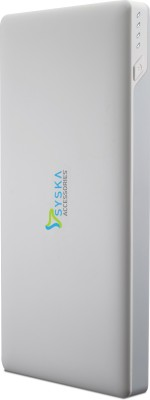 Syska 10000 mAh Power Bank  Power, Slice 100   White, Lithium Polymer
