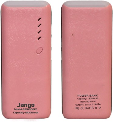 Jango 18000 mAh Power Bank (PB1800FC, ast Charge Powerbank For Android and iOS Mobiles)(Pink, Lithium-ion)