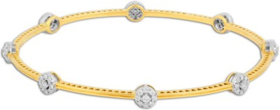 P.N.Gadgil Jewellers Dignified Yellow Gold 18kt Diamond Bangle(Yellow Gold Plated) at flipkart