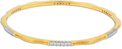 P.N.Gadgil Jewellers Gushing Yellow Gold 18kt Diamond Bangle(Yellow Gold Plated) at flipkart