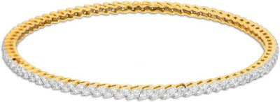 P.N.Gadgil Jewellers Stream Of Beauty Yellow Gold 18kt Diamond Bangle(Yellow Gold Plated) at flipkart