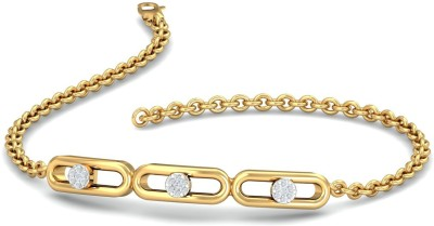 KuberBox Linea Flexi Yellow Gold 14kt Diamond Bracelet(Rhodium, Yellow Gold Plated) at flipkart