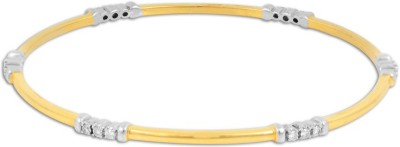 P.N.Gadgil Jewellers Regal Yellow Gold 18kt Diamond Bangle(Yellow Gold Plated) at flipkart