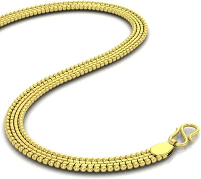 Avsar Shrin Rope Chain Yellow Gold Precious Chain(18kt Not Plated Plated) at flipkart