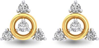 P.N.Gadgil Jewellers Classy Yellow Gold 18kt Diamond Stud Earring(Yellow Gold Plated) at flipkart