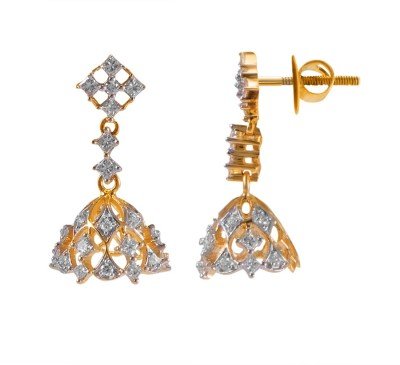 Joyalukkas Yellow Gold 18kt Jhumki Earring at flipkart