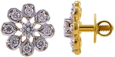 Joyalukkas Yellow Gold 18kt Stud Earring at flipkart