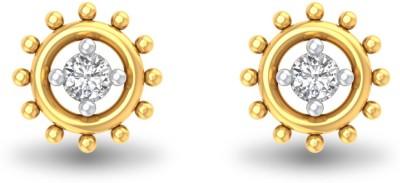P.N.Gadgil Jewellers Embellished Ball Yellow Gold 18kt Diamond Stud Earring(Yellow Gold Plated) at flipkart