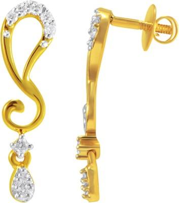 Joyalukkas Yellow Gold 18kt Stud Earring at flipkart