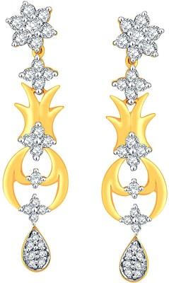 Nakshatra Designer Yellow Gold 18kt Diamond Drop Earring(Yellow Gold Plated) at flipkart