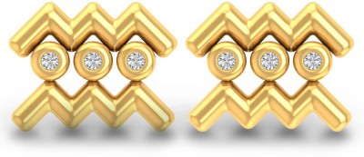 P.N.Gadgil Jewellers Aquarius Yellow Gold 18kt Diamond Stud Earring(Yellow Gold Plated) at flipkart