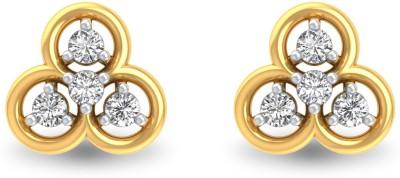 P.N.Gadgil Jewellers Bubble Yellow Gold 18kt Diamond Stud Earring(Yellow Gold Plated) at flipkart