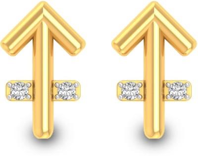 P.N.Gadgil Jewellers Sagittarius Yellow Gold 18kt Diamond Stud Earring(Yellow Gold Plated) at flipkart