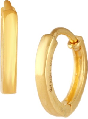 TBZ TheOriginal Daily Wear Yellow Gold 22kt Hoop Earring TBZ TheOriginal Earrings