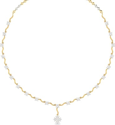 Aucent by PC Jewellers Gold Necklace(The Zeina 18) at flipkart