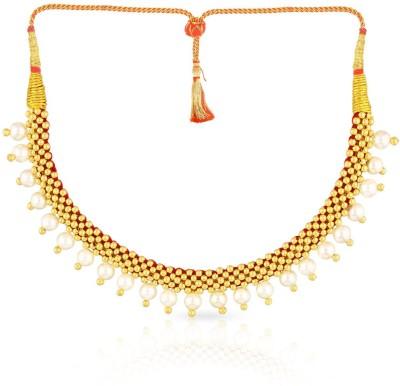 MALABAR GOLD   DIAMONDS NNKTH008 Collar Yellow Gold Precious Necklace 22kt MALABAR GOLD   DIAMONDS Necklaces