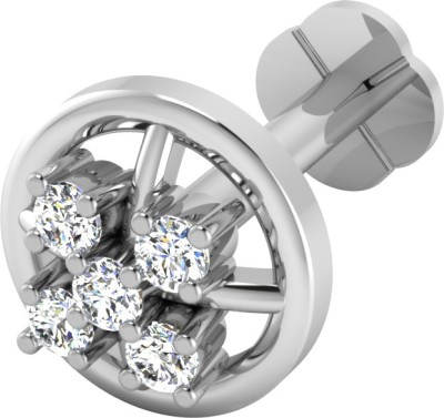 IskiUski Elaks 14kt Diamond White Gold Stud