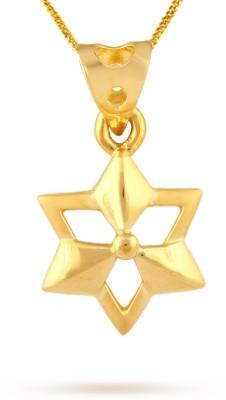 TBZ TheOriginal Daily Wear 22kt Yellow Gold Pendant TBZ TheOriginal Pendants   Lockets