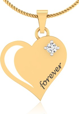 IskiUski Forever Love Heart 14kt Diamond Yellow Gold Pendant