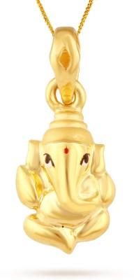 TBZ TheOriginal Lord Cute Ganesha 22kt Yellow Gold Pendant TBZ TheOriginal Pendants   Lockets