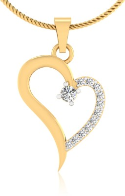 IskiUski My Heart 14kt Swarovski Crystal Yellow Gold Pendant IskiUski Precious Jewellery