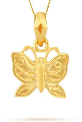 TBZ TheOriginal Little Butterfly 22kt Yellow Gold Pendant TBZ TheOriginal Pendants   Lockets