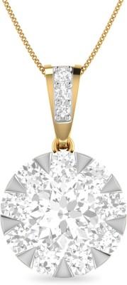 Aucent by PC Jewellers PC Jeweller The Elora 18kt Diamond Yellow Gold Pendant at flipkart