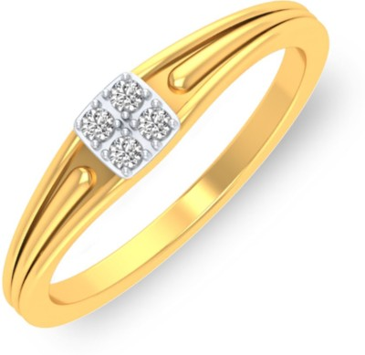P.N.Gadgil Jewellers Square Love 18kt Diamond Yellow Gold ring(Yellow Gold Plated) at flipkart