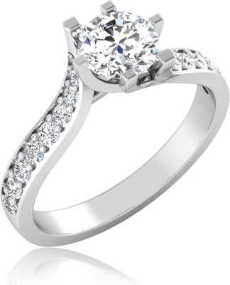 IskiUski Angelino 14kt Swarovski Crystal Platinum ring