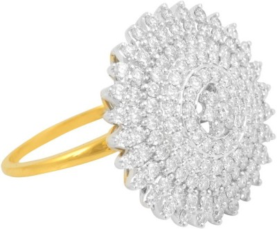 P.N.Gadgil Jewellers Divine Queen 18kt Diamond Yellow Gold ring(Yellow Gold Plated) at flipkart