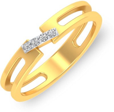 P.N.Gadgil Jewellers Love Knot 18kt Diamond Yellow Gold ring(Yellow Gold Plated) at flipkart