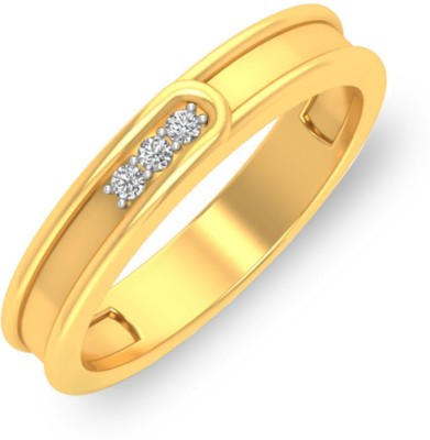 P.N.Gadgil Jewellers Curvaceous 18kt Diamond Yellow Gold ring(Yellow Gold Plated) at flipkart
