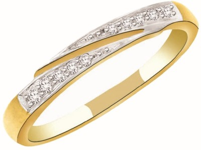 Kataria Jewellers Contemporary Yellow Gold Plated 14kt Diamond Yellow Gold ring at flipkart