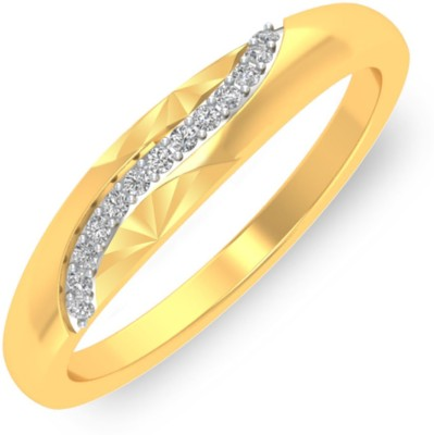 P.N.Gadgil Jewellers Moony Wave 18kt Diamond Yellow Gold ring(Yellow Gold Plated) at flipkart