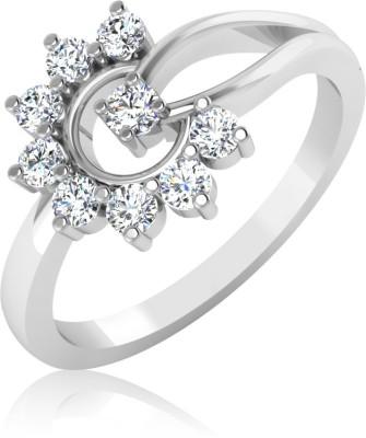 IskiUski Twisted 14kt Diamond Platinum ring