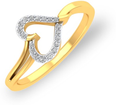 P.N.Gadgil Jewellers Sweetheart 18kt Diamond Yellow Gold ring(Yellow Gold Plated) at flipkart